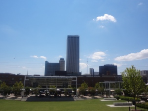 Guthrie Green & Downtown view