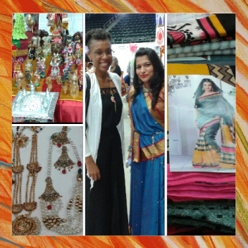 ceramics, jewelry, clothing and this wonderful young lady named Rajeshree was kind enough to take a picture with me.