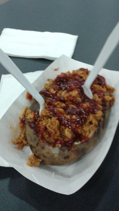 Pulled Pork baked potato from one of Freddie's many booths