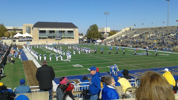Tulsa Hurricane football game! Don't let the pic fool ya...it was cold that day