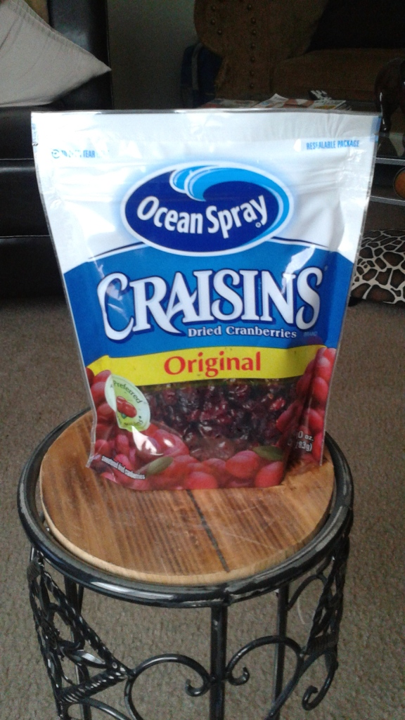 Ocean Spray Craisins, also comes in a less sugar option