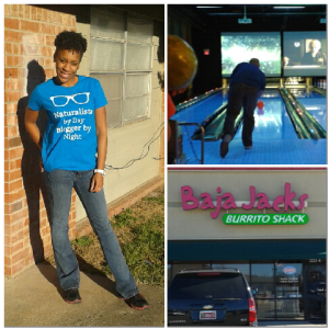 Did some strutting,  some bowling and some grubbin'