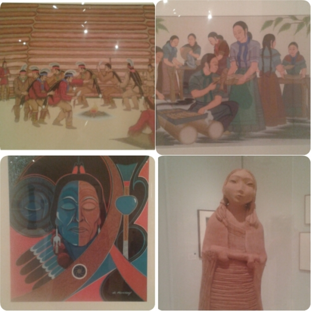 Native American artwork,  most of which was by Muscogee Creek Nation artists