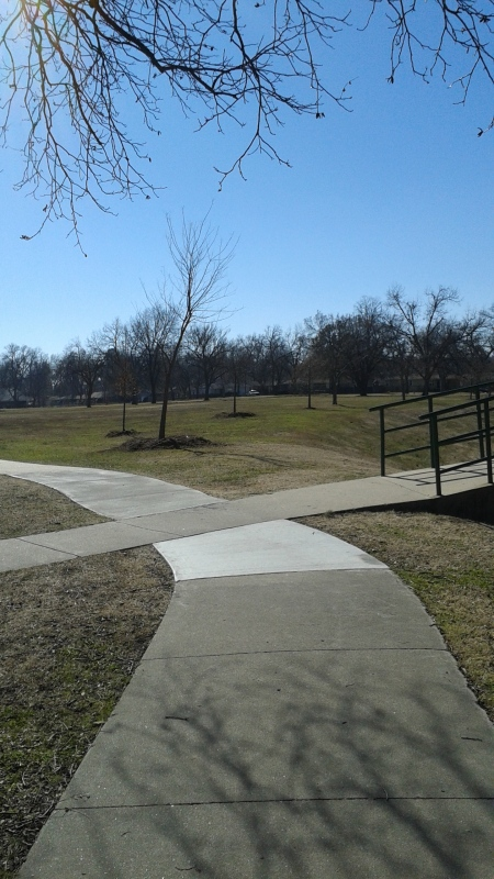 A nice walk in Tulsa's Heller Park. It's kind of off the beaten path, and that's why I like it.