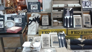I thought this display was really cool with a variety of items for newlyweds.