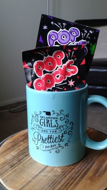 This cute mug and some Pop Rock candy is what I decided on.