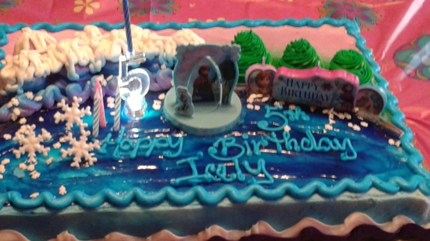 Celebrating my god daughters birthday! Frozen has taken over!!