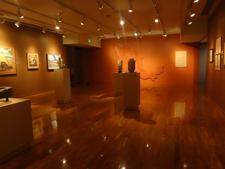 Mexican paintings and artifacts.