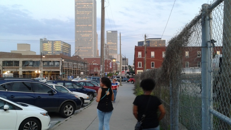 Evening stroll in downtown Tulsa