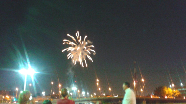Fireworks from the Tulsa Drillers game