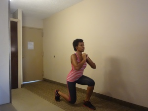 Lunges in place