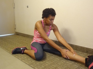 Stretch to warm up your muscles.