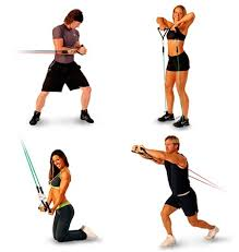 Workout bands for upper body