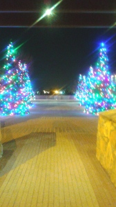 Christmas decorations at Riverside Park