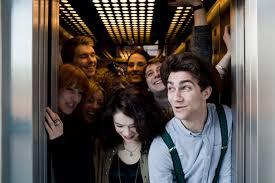 people in elevators