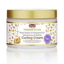 African Pride Moisture Miracle Shea Butter & Flaxseed Oil Moisture & Define Curling Cream product review